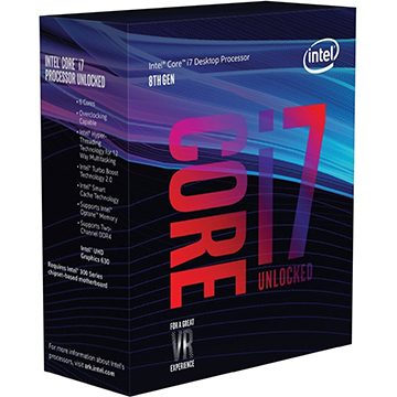 Intel Core i7-8000 on Amazon USA