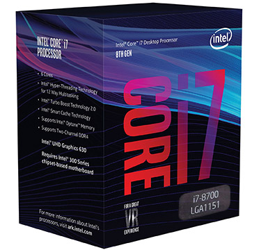 Intel Core i7-8700 on Amazon USA