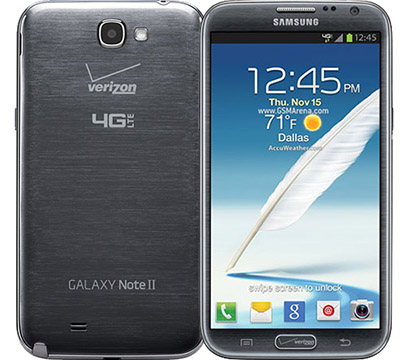 Samsung Galaxy Note II on Amazon USA